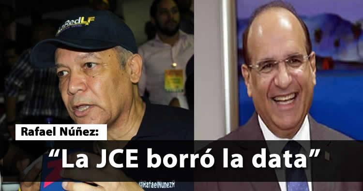 Rafael Núñez confirma JCE borró la data que tenía publicada en su página sobre el resultado de las primarias