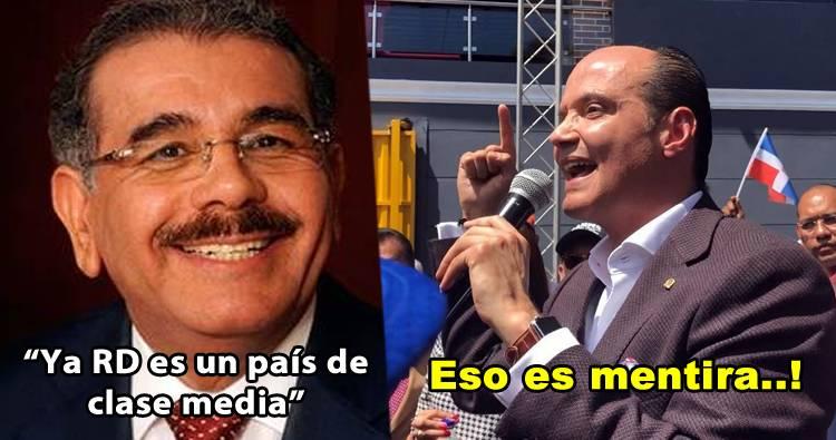 Video: Ramfis Domínguez Trujillo llama mentiroso a Danilo y le explica porque RD no es un país clase media