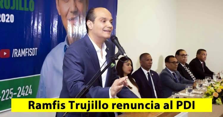 Ramfis Domínguez Trujillo renuncia al partido PDI