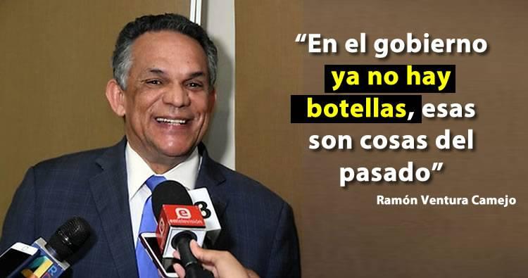 Ministro Ramón Ventura Camejo dice que en el gobierno ya no hay botellas