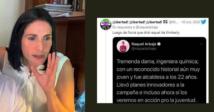 Raquel Arbaje sobre Kinsberly Taveras: «estoy atenta»