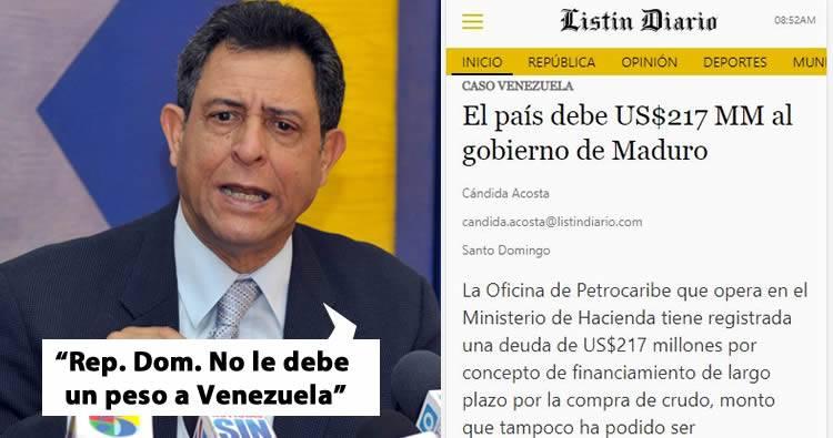 RD debe 217 Millones de dolares a Venezuela