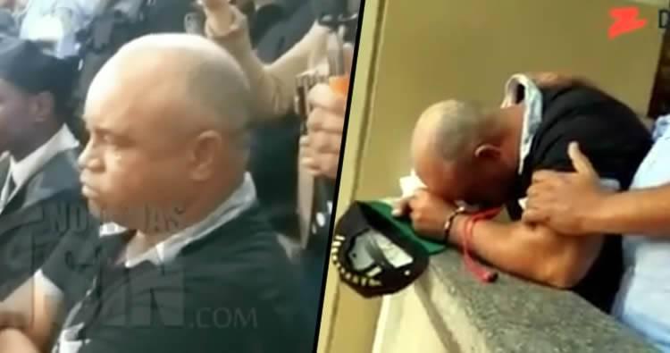 Video: Reaccion del papá de Emely Peguero al escuchar la sentencia de Marlin Martínez