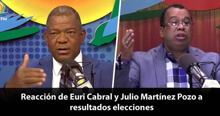 Comentarios de Euri Cabral y Julio Martínez Pozo tras resultados elecciones municipales