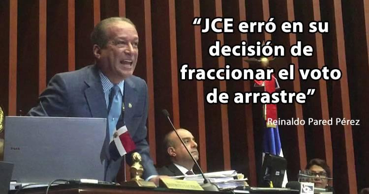 Video: Reinaldo Pared Pérez afirma JCE cometió un error en su decisión sobre voto de arrastre