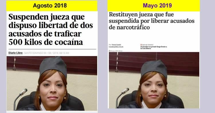 Reintegran jueza que fue suspendida por liberar acusados de narcotráfico