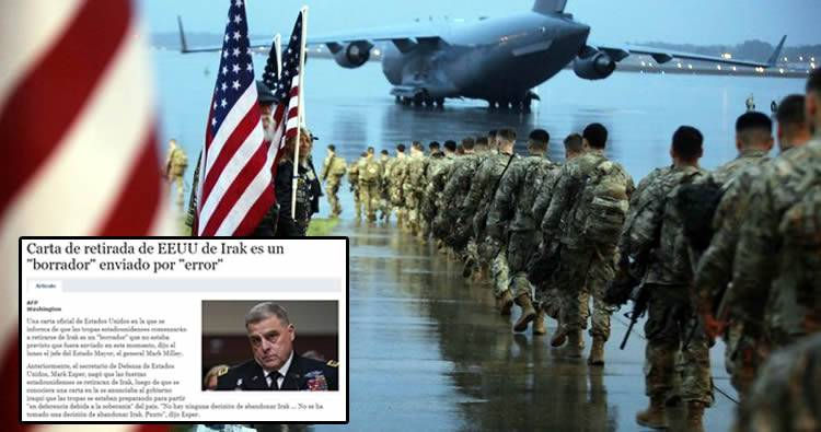 EE.UU. informó por error su retirada del territorio iraquí