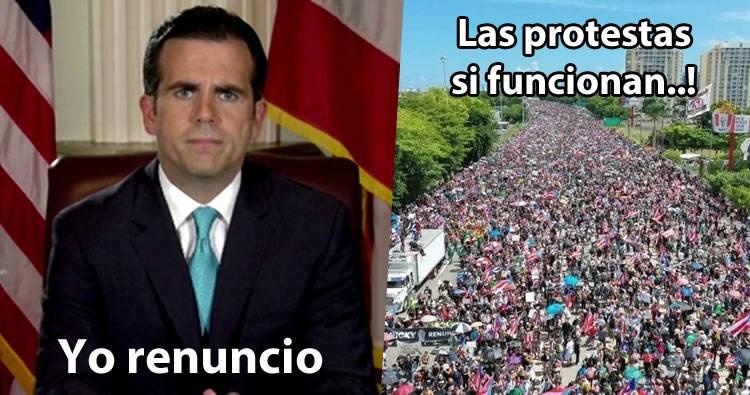 Renuncia gobernador de Puerto Rico tras verse solo y acorralado