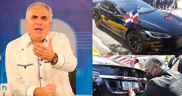 Roberto Cavada cuestiona procedencia de vehículo eléctrico usado por Luis Abinader