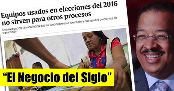 """Piden se investigue Roberto Rosario por """"negociazo"""" con la compra escáneres elecciones 2016"""