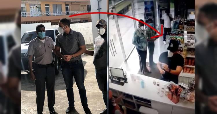 Video: Momento en que se entrega el hombre que tiró café caliente en la cara a empleada