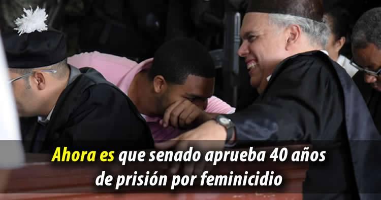 Senado aprueba 40 años de prisión por feminicidio