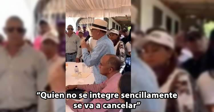 Senador Félix Vásquez dice que quien no se integre a la campaña de Gonzalo se va a cancelar