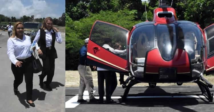 Sonia Mateo sorprende y va a una inauguración en Helicóptero