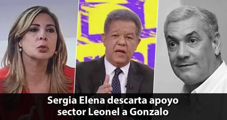 Sergia Elena descarta apoyo del sector de Leonel Fernández a Gonzalo Castillo