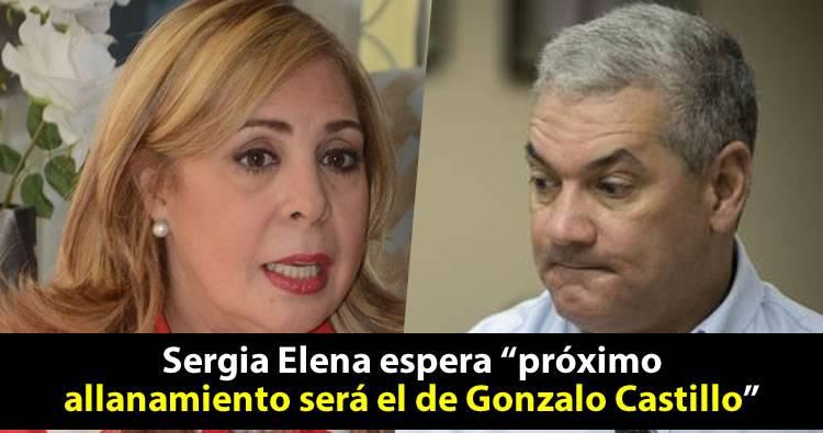 """Sergia Elena espera """"próximo allanamiento será el de Gonzalo Castillo"""""""
