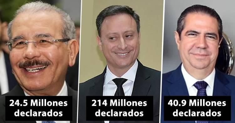Solicitan investigar patrimonios de Danilo Medina, Jean Alain, Peralta, Francisco Javier y otros