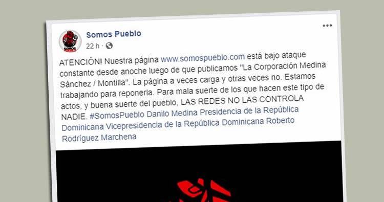 Somos Pueblo denuncia 'tumbaron' su página