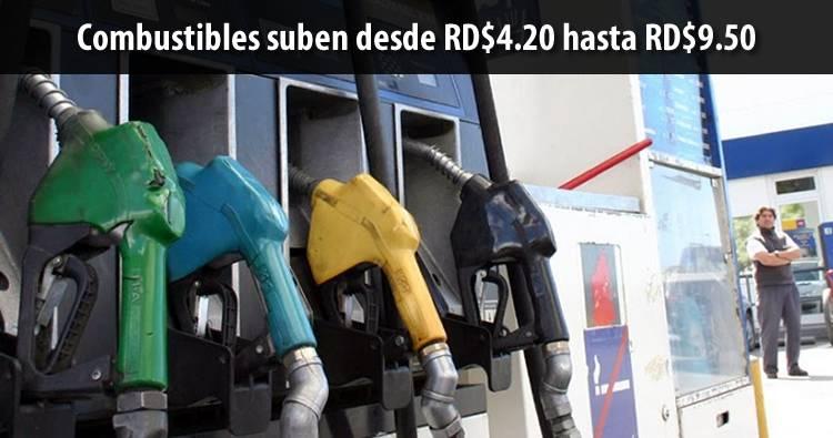 Los combustibles suben RD$4.20 y RD$9.50 en la RD; Petróleo baja en NY