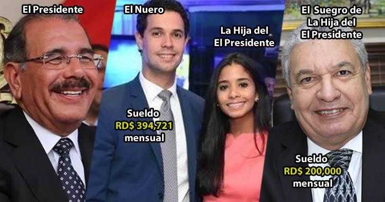 Suegro de la hija del presidente cobra 200,000 pesos en el gobierno