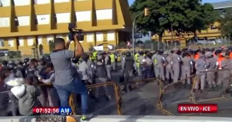 Cercan sede de JCE ante llamado a protesta de Leonel Fernández