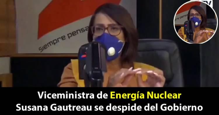 Video: Entre lágrimas, Susana Gautreau se despide del Gobierno