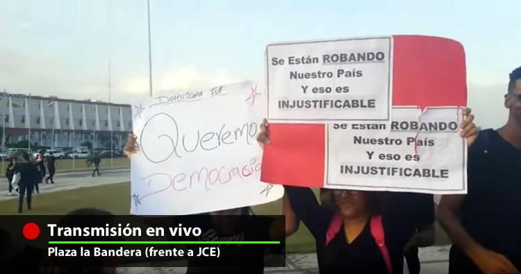Transmisión en vivo: Protesta en la Plaza de la Bandera por sabotaje de elecciones [Viernes 21]