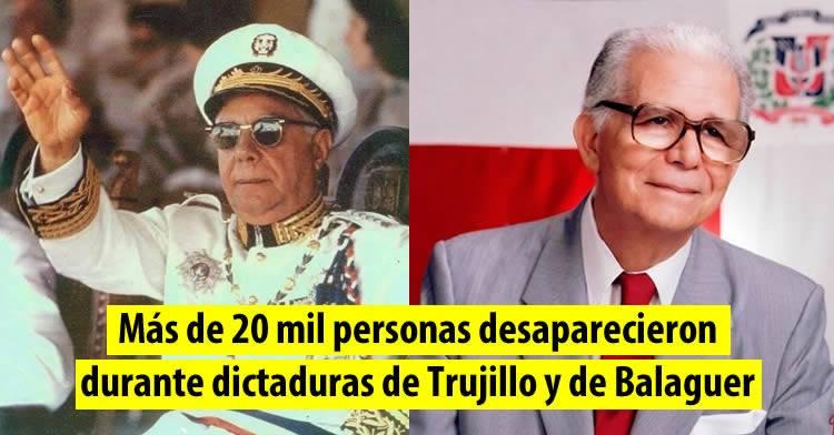 Más de 20 mil personas desaparecieron durante dictaduras de Trujillo y de Balaguer [EFE]
