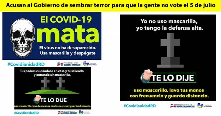 Tumbas y calaveras; acusan al Gobierno de sembrar terror para que la gente no vote el 5 de julio