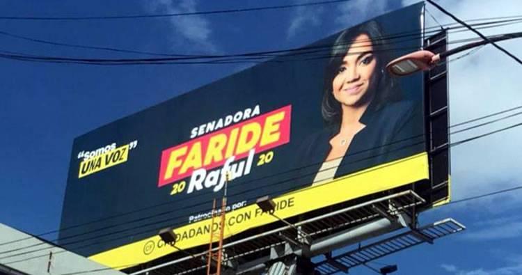 Faride Raful desconocía movimiento promocionara su candidatura violando ley electoral
