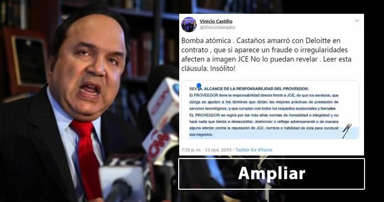 Vinicio Castillo habla sobre los amarres de Julio Cesar Castaños y Deloitte