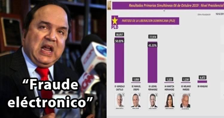 Vinicio Castillo denuncia 'fraude eléctronico'