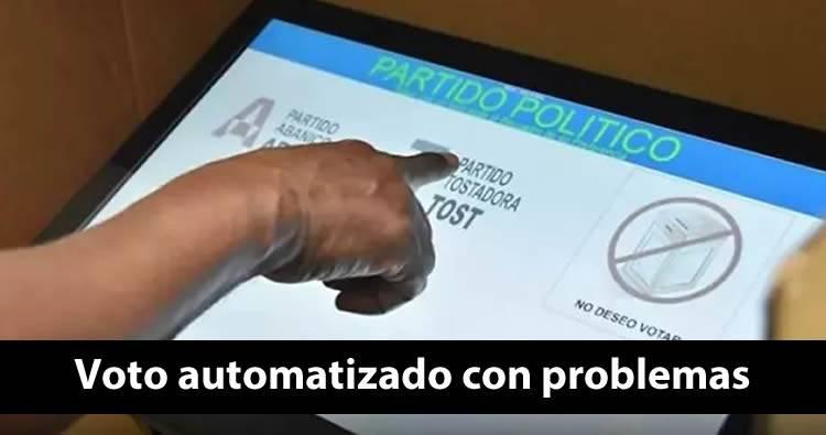 Reportan problemas con voto automatizado en varias demarcaciones