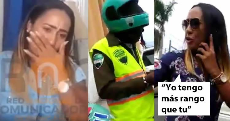 Video: Mujer transitaba sin placa y que llamó 'animal' agente DIGESETT se defiende